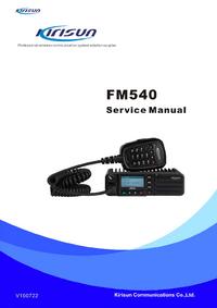 Instrukcja serwisowa Kirisun FM540