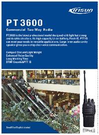 Datasheet Kirisun PT3600