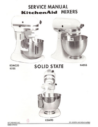 Service Manual KitchenAid K5SS