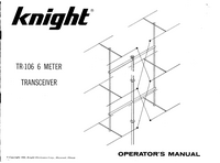 Gebruikershandleiding Knight TR-106