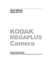 User Manual Kodak Megaplus ES 310