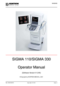 User Manual KontronMedical SIGMA 330