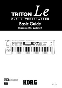 User Manual Korg Triton LE