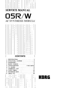 Serviceanleitung Korg 05R/W