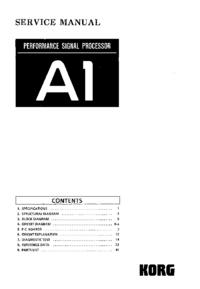 Manuale di servizio Korg A1