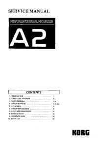 Руководство по техническому обслуживанию Korg A2