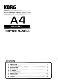 manuel de réparation Korg A4