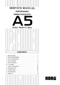 Service Manual Korg A5