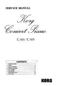 Manual de servicio Korg C-303