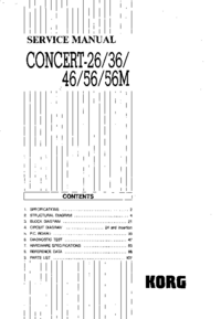 Руководство по техническому обслуживанию Korg Concert-46