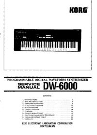 Руководство по техническому обслуживанию Korg DW-6000