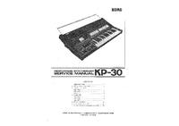 Manual de servicio Korg KP-30