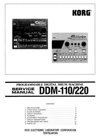 Instrukcja serwisowa Korg DDM-110
