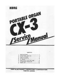 Manual de serviço Korg CX-3
