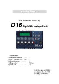 Instrukcja serwisowa Korg D16