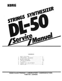 Serviceanleitung Korg DL-50