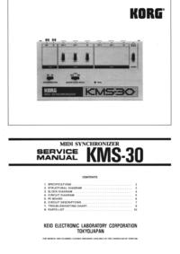 Service Manual Korg KMS-30