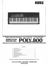 Manual de serviço Korg Poly-800