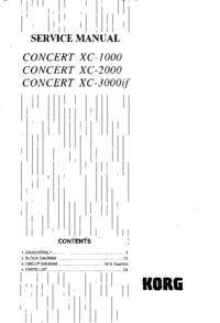 Руководство по техническому обслуживанию Korg Concert XC-1000