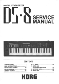 Руководство по техническому обслуживанию Korg DS-8
