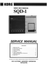 Manual de servicio Korg SQD-1