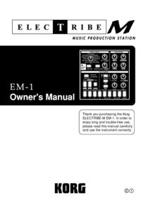 Manual del usuario Korg Electribe M EM-1