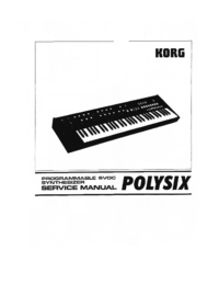 Service Manual Korg Polysix