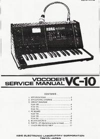 Service Manual Korg Vocoder VC-10