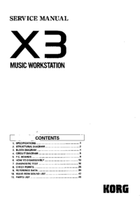Manual de servicio Korg X3
