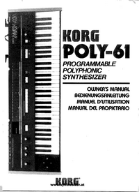 User Manual Korg Poly-61