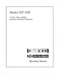 Manual del usuario KrohnHite MT-56
