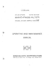 Servizio e manuale utente KrohnHite 3103 R
