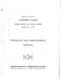 Обслуживание и Руководство пользователя KrohnHite 3200 R