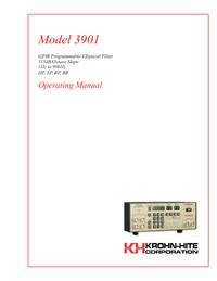 Manual del usuario KrohnHite 3901