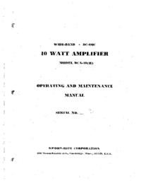 Servicio y Manual del usuario KrohnHite DCA-10