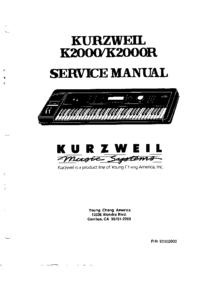 Руководство по техническому обслуживанию Kurzweil K2000