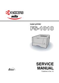 manuel de réparation Kyocera FS-1010