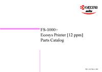 Lista de parte Kyocera FS-1000+