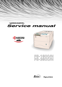 Service Manual Kyocera FS-1800/N