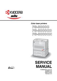 Serviceanleitung Kyocera FS-8000CD
