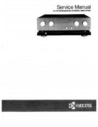 Руководство по техническому обслуживанию Kyocera A-710