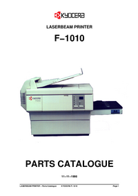 Part List Kyocera F−1010