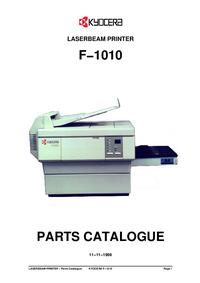 Ersatzteil-Liste Kyocera F−1010