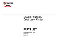 Part List Kyocera Ecosys FS-8000C