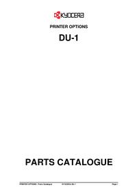 Liste des pièces Kyocera DU-1