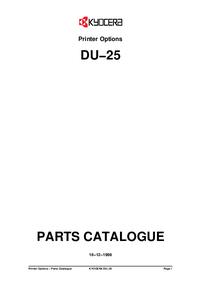 Lista części Kyocera DU-25