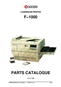 Часть Список Kyocera F−1000