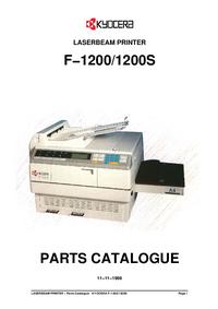 Lista części Kyocera F-1200S