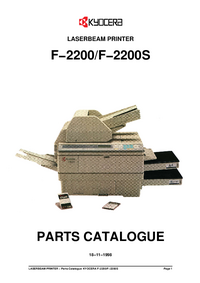 Part List Kyocera F−2200S