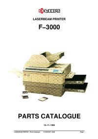 Lista de parte Kyocera F−3000